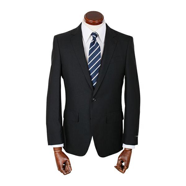 【WEB限定/OUTLET】【JOHNPEARSEBlackSELECTLINE】2釦シングルスーツ/ブラック×ソリッド/SHOWERCLEAN