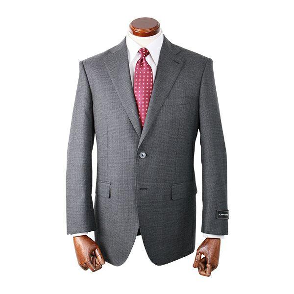 【WEB限定/OUTLET】【JOHNPEARSEWhite】スペアパンツ付き/2釦シングルスーツ/グレー×チェック