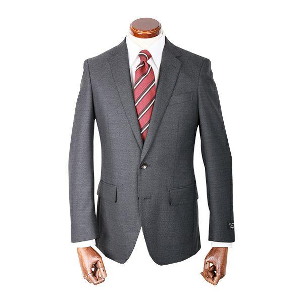 【WEB限定/OUTLET】【JOHNPEARSEcomfort】2釦シングルスーツ/グレー×ヘリンボーン