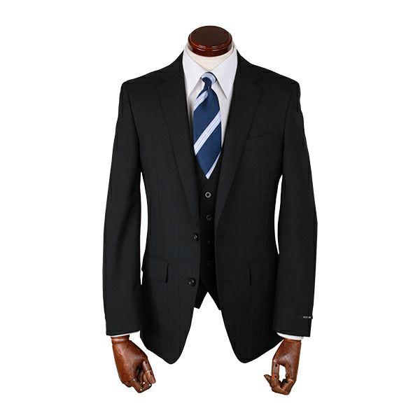 【WEB限定/OUTLET】【JOHNPEARSEBlackSELECTLINE】スリーピーススーツ/ブラック×チェック