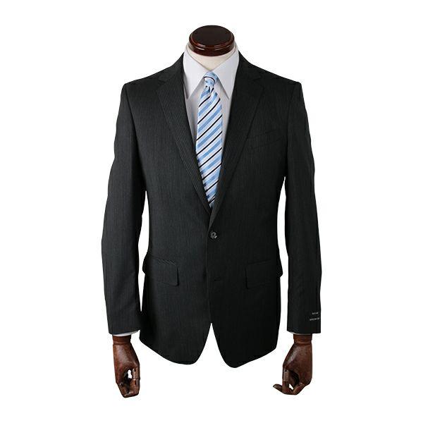 【WEB限定/OUTLET】【JOHNPEARSEBlackSELECTLINE】2釦シングルスーツ/グレー×ストライプ/ULTRALIGHTSPEC
