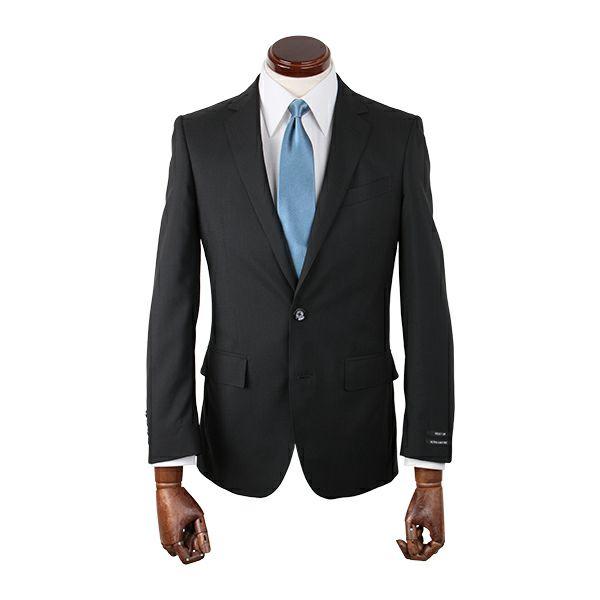 【WEB限定/OUTLET】【JOHNPEARSEBlackSELECTLINE】スペアパンツ付き/2釦シングルスーツ/ブラック×ストライプ/ULTRALIGHTSPEC