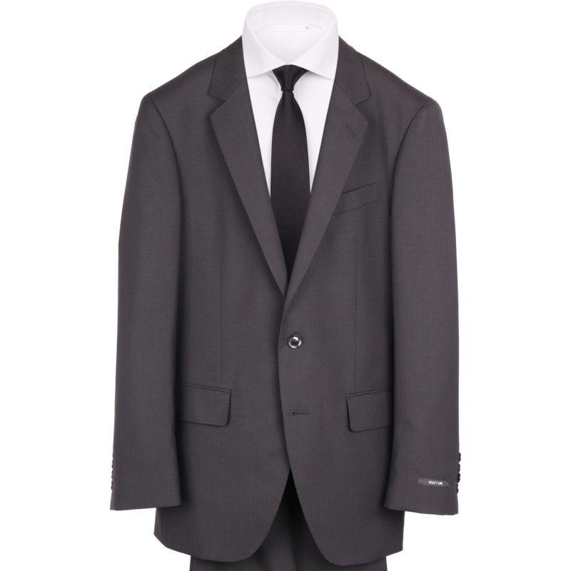 【JOHNPEARSEBlackSELECTLINE】2釦シングルスーツ/ブラック×シャドーストライプ/SHOWERCLEAN