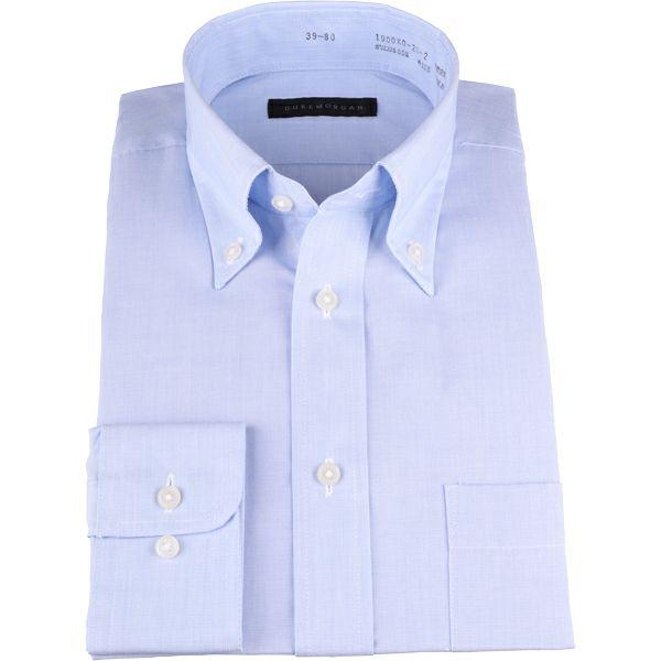 【WEB限定/OUTLET】【DUKEMORGAN】ボタンダウンドレスシャツネイビー×無地