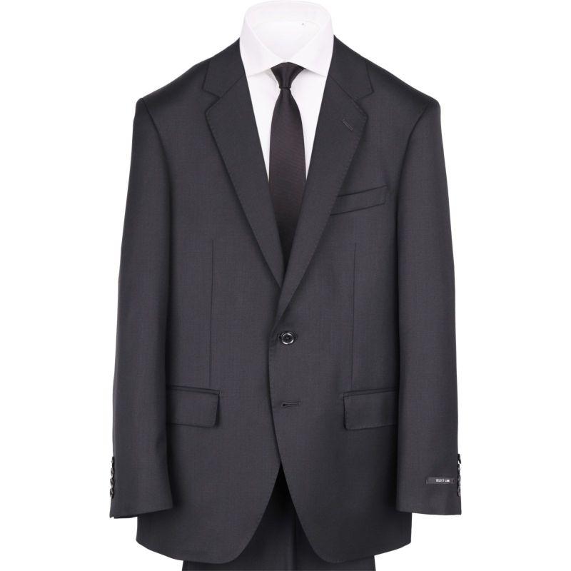 【JOHNPEARSEBlackSELECTLINE】2釦シングルスーツ0タック/ブラック×ソリッド/ULTRATOUGHS/SHOWERCLEAN