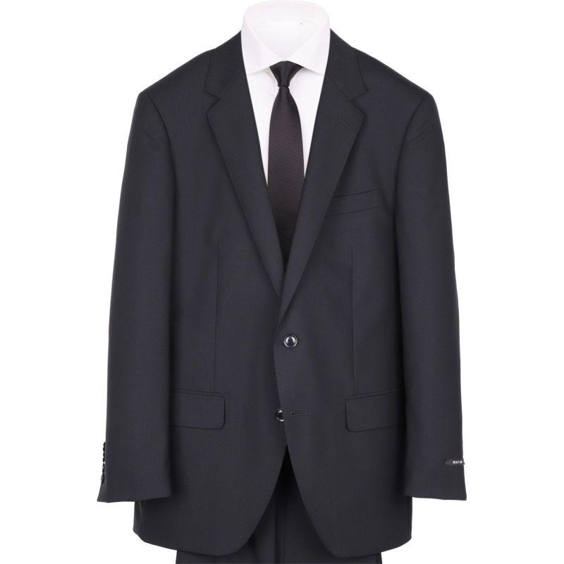 【JOHNPEARSEBlackSELECTLINE】2釦シングルスーツ/ブラック×ドビー/SHOWERCLEAN