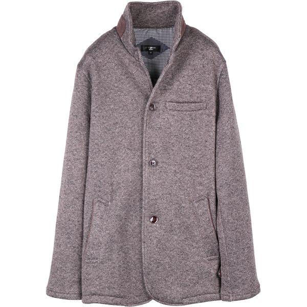 【grangestastandard】ハイスタンドカバーオールジャケット/ブラウン×ヘリンボーンストライプ