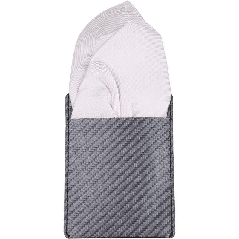 ワンタッチポケットチーフ/パフ/グレー×シルク