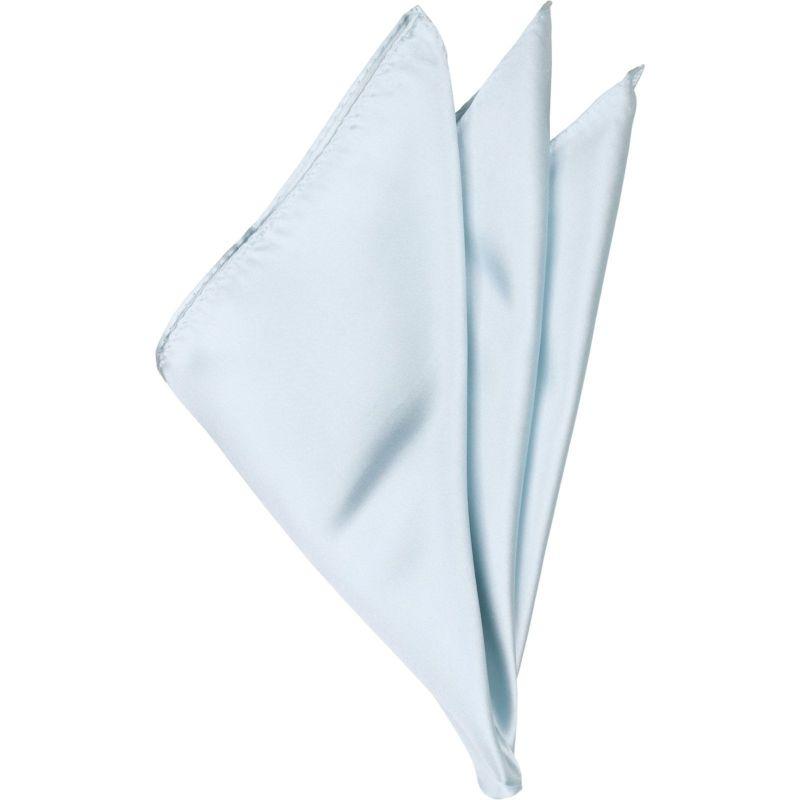 シルクポケットチーフ/ライトブルー